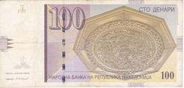 BILLETE DE MACEDONIA DE 100 DENARI DEL AÑO 2007  (BANKNOTE) - Macedonia
