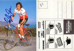 CARTE CYCLISME GIOVANNI BATTAGLIN SIGNEE TEAM INOXPRAN 1983 - Cycling