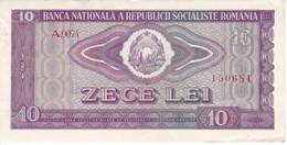 BILLETE DE RUMANIA DE 10 LEI DEL AÑO 1966 EN CALIDAD EBC (XF)  (BANKNOTE) - Romania