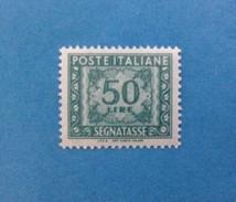 1991 ITALIA FRANCOBOLLO NUOVO ITALY STAMP NEW MNH** SEGNATASSE 50 LIRE DICITURA MARGINE I.P.Z.S. - Segnatasse