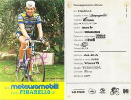 CARTE CYCLISME LUCIEN VAN IMPE TEAM METAURO 1983 ( PICS DETERIORÉES EN PARTIE ARRIERE, VOIR PHOTO ) - Cycling
