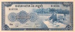 Cambodia 100 Riels, P-13b (1972) - UNC - Cambodia