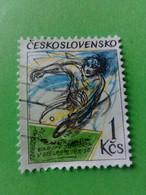 TCHECOSLOVAQUIE - CESKOSLOVENSKO - Timbre 1992 : Championnats D'Europe De Tennis De Table - Usados