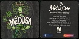France Sous Bock Beermat Coaster Bière Beer Mélusine Medusa India Pale Ale SU - Portavasos