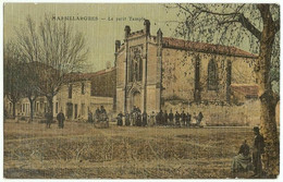 CPA Toilée De MARSILLARGUES (34) – Le Petit Temple. Edition P. H. Moulin. - Andere Gemeenten