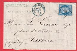 N°60 GC EN BLEU SUPERBE COULEUR GC 3650 ST GILLES DU VAR CAD TYPE 16 AUXERRE YONNE - 1849-1876: Klassieke Periode