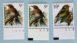 Grive 9F  Verdier 10F   N) De PL. - 1985-.. Birds (Buzin)