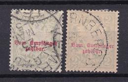 Bayern - 1895/1903 - Portomarken - Michel Nr. 13 X/y - Gestempelt - Bavaria