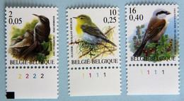 2F/0,05€    10F/0,25€    16F/0,40€ - 1985-.. Birds (Buzin)