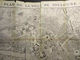 31 - Toulouse - Plan Ancien Dépliant De La Ville De Toulouse - Labouche - 1887 - - Topographical Maps