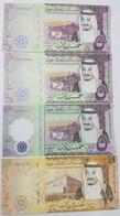 Saudi Arabia 5,10,50,100,500 Riyals 2016,2017,2020 UNC Set Of 11 Notes P-38,39,40,41,42 - Saudi Arabia