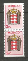 Timbre Monaco  Paire Verticale  Neuf ** N 1623a - Unused Stamps