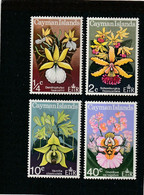 Cayman Ilands 1971: 1/4 C. -40 C. Orchideen Postfrisch (never Hinged) Michel Nrn. 286-289       ** - Cayman (Isole)