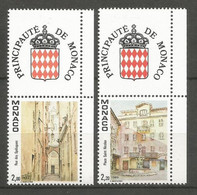 Timbre Monaco  Avec Logo Attenant  Neuf ** N 1669/1670a - Unused Stamps