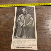 1930 PATI2 Un évêque Missionnaire Mgr Cuvelier Vicaire Matadi - Sin Clasificación
