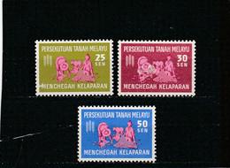 Malaysia, Mal. Federation 1963: 25-50 Sen Harvestman And Fisherman; S.G.32-34          **/* - Malesia (1964-...)