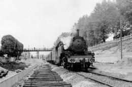 Le Parc-Saint-Maur. Locomotive 131 TB 44. Cliché Jacques Bazin. 20-07-1956 - Trains