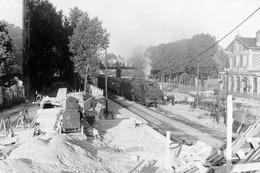 Le Parc-Saint-Maur. Locomotive 131 TB 7. Cliché Jacques Bazin. 08-1956 - Trains
