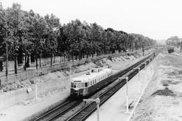 Le Parc-Saint-Maur. Autorail Renault AEK. Train Spécial Pour Une Association Locale. Cliché Jacques Bazin. 09-06-1957 - Trains