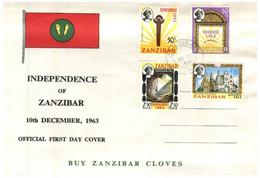 (OO 27) 1963 - Zanzibar Independence FDC - Zanzibar (1963-1968)