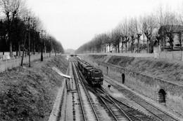 Entre Le Parc-Saint-Maur Et Champigny. Locomotive 131 TB 41. Cliché Jacques Bazin. 25-03-1956 - Trains