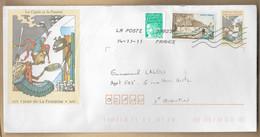Enveloppe Entière Fable De Jean De La Fontaine (Château-Thierry) La Cigale Et La Fourmi 14-11-2011 Entier Postal - 1961-....