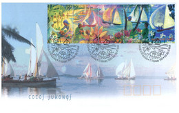 (OO 27) Australia FDC - Cocos Jukongs 1999 + CUP-PEX 87 - Cocos (Keeling) Islands