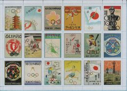 UKRAINE / Private Issue / Vignettes / Posters. History Of Olympic Games. Failed Olympiad Tokyo 1940 Japan. 2020 - Otros