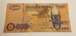 K100 BANK OF ZAMBIA /B/ 1992 / N 496 P# 38 - Zambia