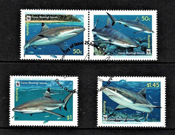 Cocos Islands 2005 Reef Sharks Set Of 4 Used - - Cocos (Keeling) Islands