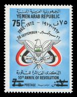 Jemen-Arabische Republik 1975 - Mi-Nr. 1547 ** - MNH - 75 F Auf 7 B - Jemen
