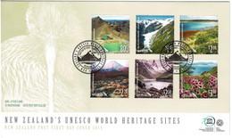 New Zealand 2017 UNESCO World Heritage Sites FDC - FDC