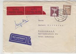 Express-Luftpostbrief Aus BERLIN-STEGLITZ 25.6.60 Nach Dortmund - Cartas