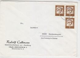 Brief Von Ener Edelsteinschleiferei Aus IDAR-OBERSTEIN 6.1.64 Nach Hückeswagen - Storia Postale