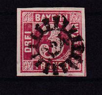 Ziffer 3 Kr. Mit Mühlradstempel 324 (= Münchberg) - Bavaria