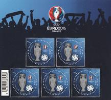 FRANCE 2016 BLOC UEFA  EURO 2016 PERFORATION ETOILE OBLITERE  - BF137 - BF 137- - Used