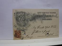 POGGIBONSI --SIENA   --   LORENZO PANDOLFI  & C.   - CASA VINICOLA TOSCANA - Siena