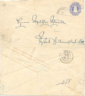 ALLEMAGNE Anciens Etats Mecklenbourg-Strelitz : ENTIER MECKLENB.STRELITZ 2 – Cachet Partiel NEUBRANDENBURG - Stamped Stationery, Airletters & Aerogrammes