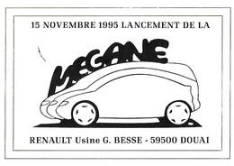 MEGANE - Lancement 15 Novembre 1995 - Renault - Douai - Voiture - Usine Besse - Cad Sur Yvert 2971 - Inaugurazioni