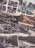65 - LOURDES -  LOT DE 42 CARTES POSTALES  FORMAT 9X14 - GROTTE BASILIQUE BENEDICTION DES MALADES LA VIERGE - Holy Places