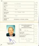 PASSPORT , AUSTRIA , FISCAL STAMP - Documentos Históricos