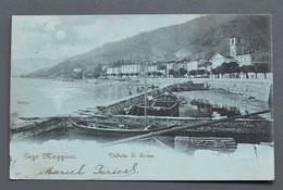 Lago Maggiore - Veduta Di Suna - 57 - 1900 !! - Cachet Hôtel Metropole E Poste, Pallanza - - Verbania