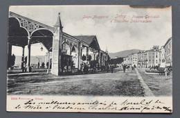 Lago Maggiore - Intra - Piazza Garibaldi E Stazione Imbarcadero - 1900 !! - Cachet Hôtel Metropole E Poste, Pallanza ! - Verbania