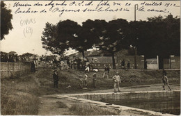 CPA Carte Photo GIVORS Union Des Agents P.L.M. Fete 1912 Locher De Pigeons (809846) - Givors
