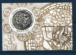 France 2021.Bloc Notre Dame.Cathédrale Notre-Dame De Paris .Cachet Rond Gomme D'origine. - Souvenir Blocks & Sheetlets