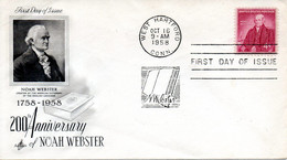 USA. N°654 De 1958 Sur Enveloppe 1er Jour. Noah Webster, Lexicographe Et Grammairien. - Unclassified