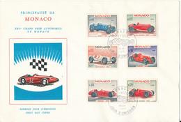 Monaco FDC 28-4-1967 XXV Grand Prix Automobile De Monaco Complete Set Of 6 With Cachet - FDC