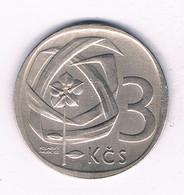 3 KORUN 1965   TSJECHOSLOWAKIJE /3708/ - Tschechoslowakei