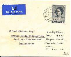 Malta FDC 1-12-1950 Sent To Denmark Single Franked - Malta