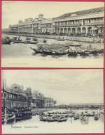 Singapore  Collyer Quay Quai _ (PCard35+43) CPA Vintage - Singapore
